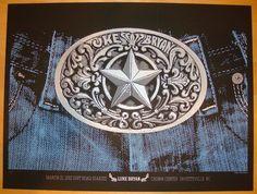 2013 Luke Bryan - Fayetteville Concert Poster by Pfahlert