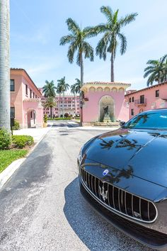 Being escorted around in a Maserati (the house car at the Boca Raton Resort & Club) is the definition of Palm Beach style!