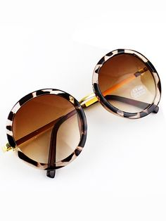 74ecf81a98 To find out about the Yellow Round Lenses Leopard Sunglasses at SHEIN