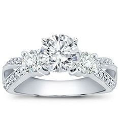 Perfect. I want a 3-diamond ring, but I like that they're not the same size.