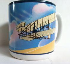 Smithsonian Institution 1988 Wright Brothers Flyer Biplane Airplane Coffee Mug