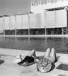 Sunbathers, Eden Roc, Cap D'Antibes, photo by Regina Relang, 1938.