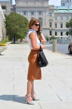 How to Style Leather for the Office   A Lily Love Affair