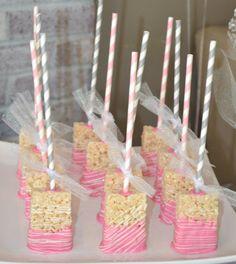Cubierto de arroz Krispies Treat Pops por YourSweetDetails en Etsy