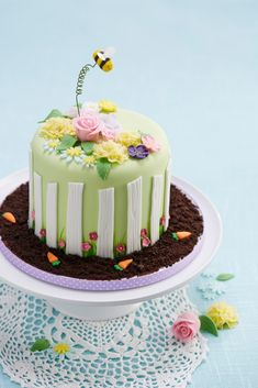 How to Make a Floral Garden Cake #baking #advanced #floral #garden #cake #easter