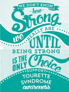Inspired Cases How Strong - Tourette Syndrome Awareness Case for iPhone 6 Plus Inspired Cases
