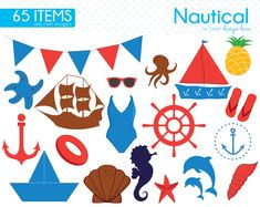 Nautical Clipart, Sea Clipart, Sailor, Sailing, Ocean, Anchor, Lighthouse, Sailboat, Life Preserver, baby, baby shower, Commercial, CS0003 by Sweetdesignhive on Etsy Nautical Clipart, Sea Clipart, Life Preserver, Sailboat, Baby Baby, Lighthouse, Anchor, Sailing, Commercial