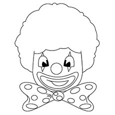 clown face coloring pages - photo#7