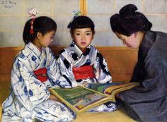 """""""Picture Book"""" -- Lilla Cabot Perry (1848 – 1933, American)"""