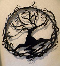 Abstract Tree of Life Metal Wall Art