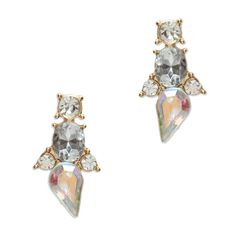Make a bold and dramatic statement with these Cynthia earrings. Bright layered crystals add art-deco glam to any party ensemble.   Find it on Splendor Designs
