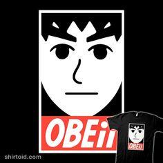OBEii | Shirtoid #andrewgeorge #gaming #mii #obey #obeygiant #shepardfairey #videogame