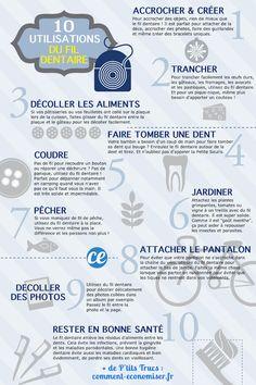 10 Utilisations Incroyables Du FIL DENTAIRE Que Personne Ne Connaît.