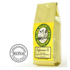 Aloha Island Organic Kona Blend Coffee Espresso II Ground Coffee 8oz Bag