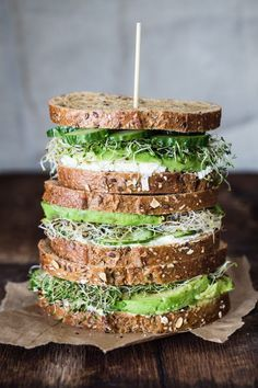 Avocado Cucumber and Goat Cheese Sandwich