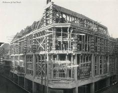 Nieuwstraat-Karrestraat. Bouw warenhuis Vroom en Dreesmann (VenD) 1921-1923.
