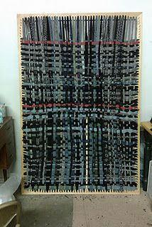 Recycled sweater rug - with instructions for both rug AND loom...I have a small loom and this has given me a great idea for that one :D