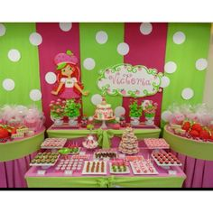 polka dots strawberry shortcake birthday party ideas