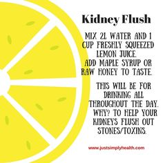 Kidney Cleanse Detox Best way to get rid of Kidney Flush? JSH has this to say. Colon Cleanse Detox, Detox Your Liver, Cleanse Diet, Cleanse Recipes, Juice Cleanse, Health Cleanse, Juice Recipes, Liver And Kidney Cleanse, Stomach Cleanse