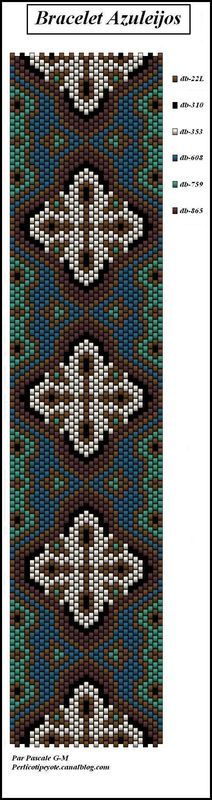 Tissage perles bracelet azulejos