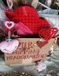Atlantic Pack & Parcel ® is YOUR Heart Shipping Headquarters (February Store Windows, February 2015, Packing, Heart, Creative, Display Cases, Bag Packaging, Shop Windows, Hearts