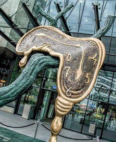 Runny Salvador Dali clock, Wroclaw Poland