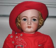 "Simon Halbig K Star R Open Mouth Bisque Head Compostion Body 33 5"" Tall Doll 