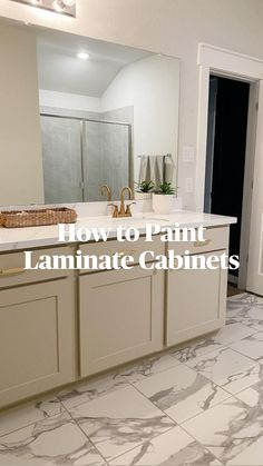 Diy Projects To Sell, Diy House Projects, Diy Furniture Projects, Furniture Makeover, Diy Home Crafts, Diy Home Decor, Painting Laminate Cabinets, Cabinet Trim, Using A Paint Sprayer
