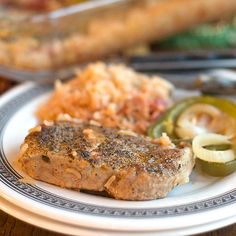 One-Dish Pork Chops and Rice | If you like recipes with pork, you'll love this easy casserole.