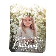 White Merry Christmas Holiday Photo Magnet. For more advanced customization of this design Please click the Customize button. Merry Christmas Banner Printable, Merry Christmas Card Photo, Merry Christmas Calligraphy, Merry Christmas Background, Christmas Holidays, Merry Christmas In Spanish, Merry Christmas In Hawaiian, Tropical Christmas, Christmas Gift Certificate Template