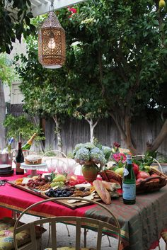 Wine, fruit, cheese & bread!!!