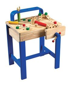 Any junior helper will be hammering like a pro with this darling work bench. The variety of tools and supplies are great for hand-eye coordination practice.