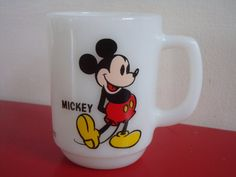 Vintage Mickey Mouse Promotional Pepsi Mug by by PlayfullyVintage, $10.00