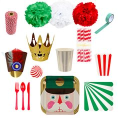 Invite your fellow sugar plum fairies and cavaliers to your next Nutcracker themed Christmas party this December as you let Yellow Pinwheels send you all you need to celebrate the season! Filled with pom poms, party hats, cups, plates, washi tape, paper straws, and more! A $94 value for only $79! yellowpinwheels.com
