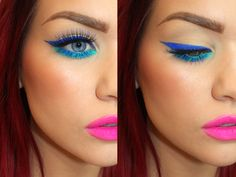 Using Mermaid and Aquarama on eyes, Oh La La on lips over top of MAC Candy Yum Yum.
