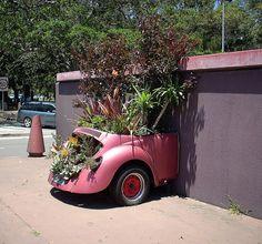 Corner Cleveland Street and South Dowling Street, Moore Park, NSW Moore Park, Car Part Furniture, Flower Car, Home Decor Quotes, Handmade Home Decor, Yard Art, Outdoor Gardens, Garden Design, Backyard