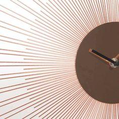 Wanduhr aus Metall kupferfarben D 45 cm COPPER PADOVA