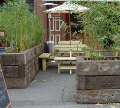Kings Lynn project using railway sleepers 021 Garden Architecture