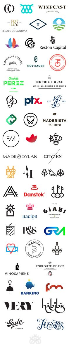 50 Logo Designs by Anagrama - WE AND THE COLOR
