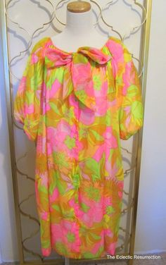 Vintage Psychedelic Dressing GownRobe Neon Colors by linbot1, $40.00