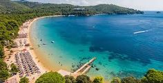 Image result for best air photos of koukounaries beach