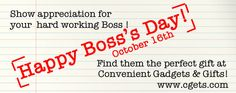 In case you didn't know, October 16th is National Boss's Day. Much like Mother's Day, Father's Day, and Grandparent's Day, this day is dedicated to celebrating and appreciating the person who signs all your paychecks. So, if you're looking for a special way to say thank you, or just want to get on their good side, we've got some gifts that are sure to catch your superior's attention (in a good way)!