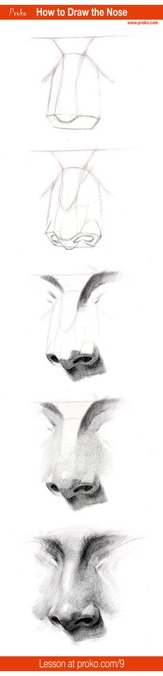 to Draw a Nose – Step by Step Draw a realistic nose with this step-by-step instruction. Full drawing lesson at a realistic nose with this step-by-step instruction. Full drawing lesson at Portrait Au Crayon, Pencil Portrait Drawing, Nose Drawing, Pencil Drawings, Painting & Drawing, Art Drawings, Drawing Portraits, Drawing Faces, Pencil Art