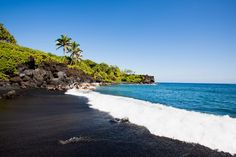 World's Emptiest Beaches: Honokalani Beach (Maui, Hawaii) Tucked away on a deserted stretch of Maui's lush Waianapanapa State Park, Honokalani Beach commands awe from those lucky enough to chance upon it. With jet-black sand set against shimmering turquoise waters, Honokalani Beach is pure Hawaiian splendor, with small caves to poke inside and nary a soul to disrupt the solitude. One of the last stops on the famous dusty road to Hana, it's more than worth a visit.