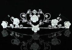 Bridal Wedding Handmade White Rose Ceramic Heart Tiara Crystaliiz http://www.amazon.com/dp/B00ECCBUQA/ref=cm_sw_r_pi_dp_ughiub1TCTKMN