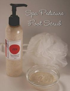 spa pedicure foot scrub