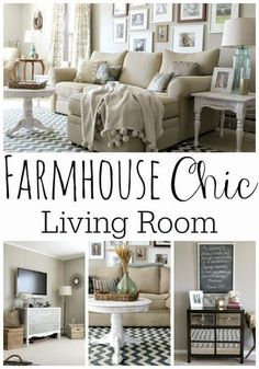 Farmhouse Chic Living Room by Grace Lee Cottage Chic Living Room, New Living Room, Home And Living, Living Room Decor, Small Living, Modern Living, Cozy Living, Farmhouse Living Room Furniture, Country Furniture