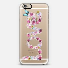 FLORAL LOVE - CRYSTAL CLEAR PHONE CASE BY NIKA MARTINEZ FOR CASETIFY Check out my new @Casetify using Instagram & Facebook photos. Make yours and get $10 off using code: P457MB #love #floral #quote #butterlfy #phone #transparent #chic #shabby #case #collage #artistic #typography #cute #iphone #iphone6 #cover