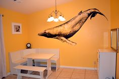 #mural, #whale, #kitchen...need I say more? hand painted by Tricia Kibler www.triciakibler.com