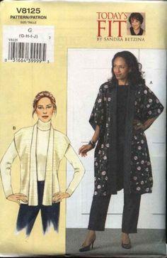 Vogue Sewing Pattern 8125 Misses Size 16-22 Easy Sandra Betzina Reversible Vest Topper